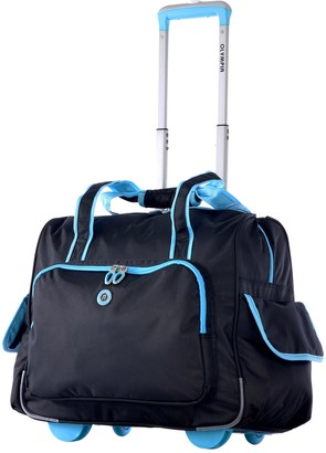 Olympia Luggage Olympia USA Rave Fashion Rolling Overnighter