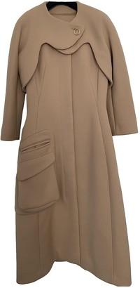 Christian Dior Beige Wool Coat for Women