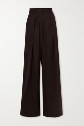 Michael Lo Sordo Boy Wool-twill Wide-leg Pants - Brown