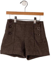 Marie Chantal Girls' Wool Shorts