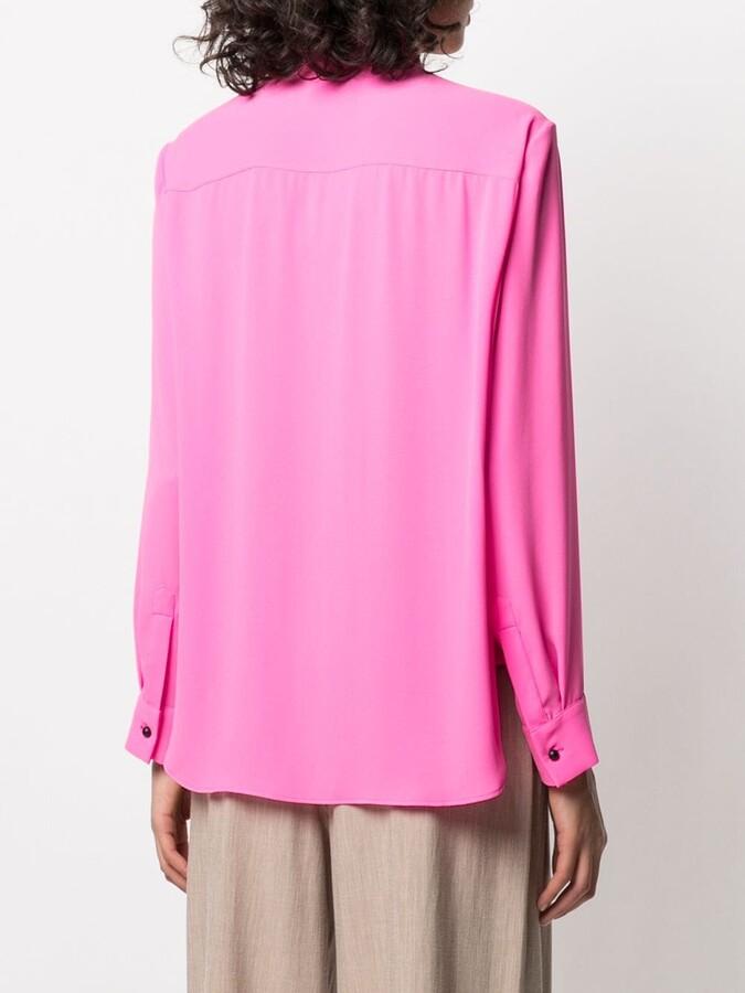 Thumbnail for your product : Maison Rabih Kayrouz Buttoned Mock-Neck Shirt