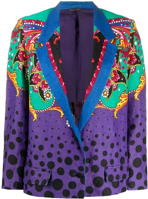 Versace Pre-Owned Polka Dot Abstract Jacket
