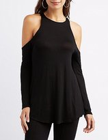 Charlotte Russe Cold Shoulder Tunic Tee