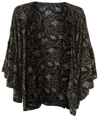 Black Colour - Luna Boho Sleeve Kimono Black Coco - One Size