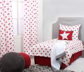 Bacati Stars Muslin 4 Piece Toddler Bedding Set, Red by