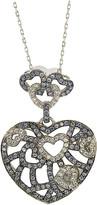 LeVian Suzy Diamonds Suzy Silver 1.62 Ct. Tw. Sapphire Connected Hearts Necklace