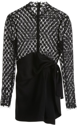 Saint Laurent STARS LACE MINI DRESS 38 Black