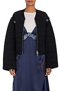 3.1 Phillip Lim Women's Convertible Cotton Terry Bomber Jacket - Black