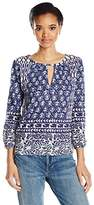 Lucky Brand Women's Shibori Print Top