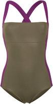 Laura Urbinati cross back swimsuit - women - Polyamide/Spandex/Elastane - 46