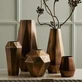 west elm Faceted Metal Vases