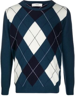 Pringle Argyle-Intarsia Crew Neck Sweater