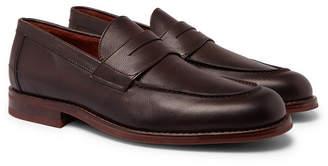 Loro Piana City Life Full-Grain Leather Loafers