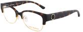 Tory Burch Matte Dark Tortoise & Gold Eyeglasses