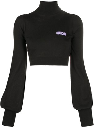 GCDS Cropped Logo Plaque Jumper