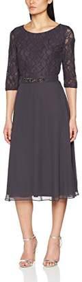 Vera Mont Women's 22/3749 Party Dress, (Shale Grey 8530)