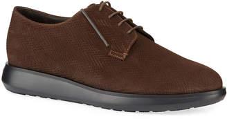 Giorgio Armani Men's Chevron Low-Top Chukka Boots