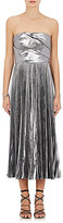 J. Mendel Women's Pleated Satin Strapless Cocktail Dress