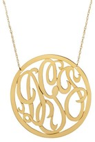 The Well Appointed House Rimmed Script Personalized Necklace