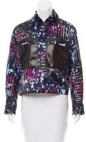 Versace Leather-Trimmed Patterned Jacket