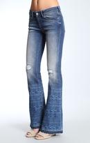 Mavi Jeans Peace Petite Flare In Indigo Tribe Vintage