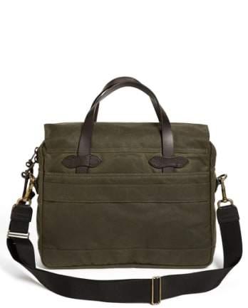 Filson '24 Hour' Tin Cloth Briefcase - Beige
