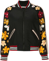 Alice + Olivia Alice+Olivia - floral embroidery bomber jacket - women - Silk/Polyester/Spandex/Elastane - S