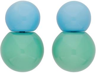 Monies Jewellery Blue and Green Siena Earrings