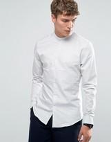 Reiss Long Sleeve Grandad Slim Shirt