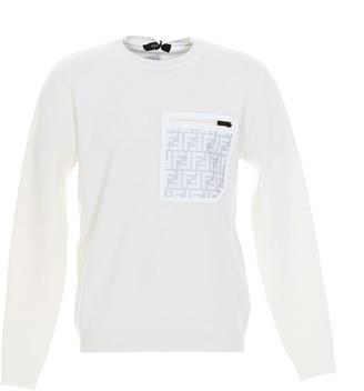 Fendi FF Pocket Crewneck Sweater