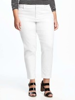 Old Navy Smooth & Slim Stay-White Plus-Size Pixie Chinos