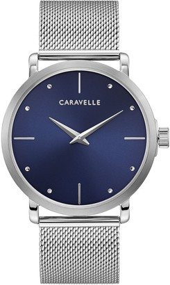 Caravelle by Bulova Men's Stainless Blue Dial Watch