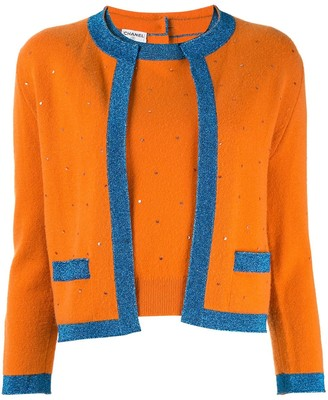 Chanel Pre Owned Colour-Block Cashmere Twin Set