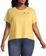 Disney Collection Juniors Plus Spring 20 Tee-Womens Crew Neck Short Sleeve The Lion King T-Shirt
