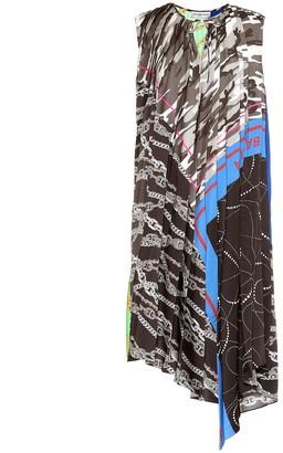 Balenciaga Printed asymmetric dress