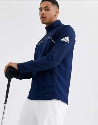 adidas 1/4 zip jacket in navy