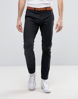 Selected Slim Fit Chino with Leather Belt