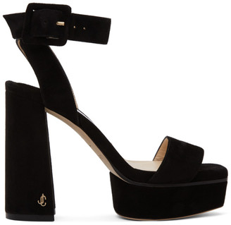 Jimmy Choo Black Jax 115 Platform Sandals
