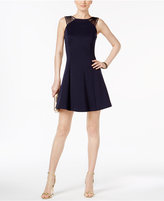 GUESS Strappy Fit & Flare Dress