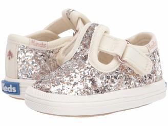 Keds Kids Baby Girls Champion Glitter Toe Cap T-Strap Sneaker