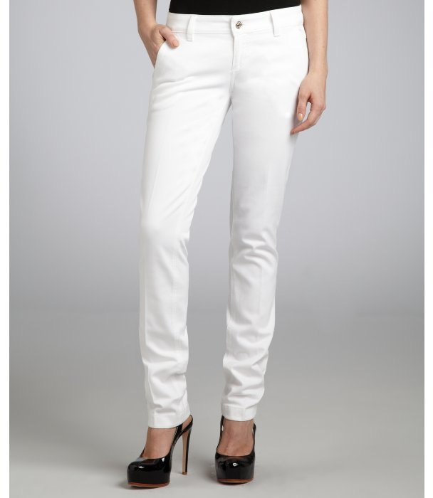 Gucci white stretch skinny denim jeans