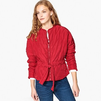 La Redoute Collections Lightweight Padded Jacket with Tie Belt