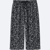 Uniqlo Women's Relaco 3/4 Shorts (wide) (small Flower)