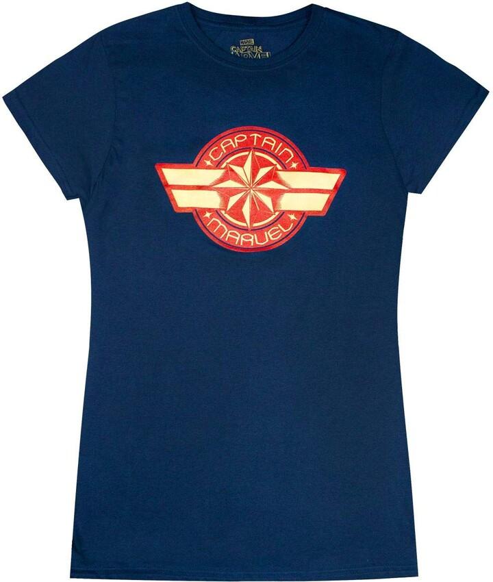 Thumbnail for your product : Marvel Captain Logo Women's Navy Short Sleeve T-Shirt