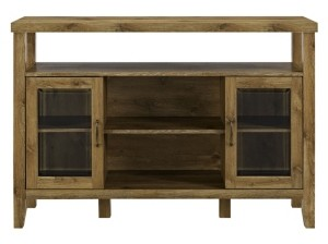 "Walker Edison 52"" Wood Console High Boy Buffet"