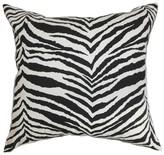 Cecania Zebra Print Cotton Throw Pillow Cover The Pillow Collection Color: Black White