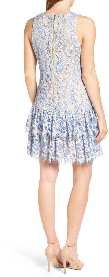 Eliza J Ruffle Lace Dress