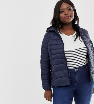 Junarose short padded coat-Navy