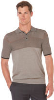 Perry Ellis Stripe Sweater Polo