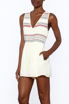 Lush Sleeveless Embroidered Romper